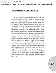 Doppelpunkt 2006/4, Fachzeitschrift für Bibliotheken in der Steiermark