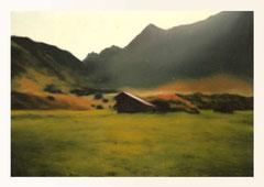 o.T. (Bob´s Hütte), Öl auf Leinwand, 70x50cm, 2004