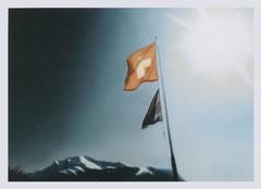 o.T. (Rütlischwur), Öl auf Leinwand, 80x60cm, 2002