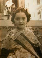 Fallera Mayor Infantil 1961 Mª Jesús Gadea