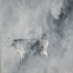 Schwarzbunt - Acryl auf Leinwand - 40 x 40 - 2009