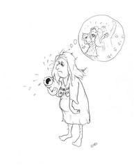 Illustration für:  http://schwaben-mom.de/2015/05/04/strahlend-schoen-am-tag-der-geburt-kate-warum-tust-du-uns-das-an/