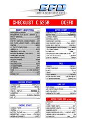 Großansicht - Normal Checklist C525B - Vorderseite