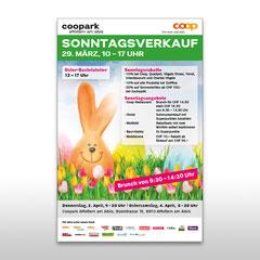 Kunde: Coop / Auftrag: Plakat Ostern für Coopark Affoltern