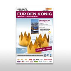 Kunde: Coop / Auftrag: Inserat 3 Könige für Coopark Affoltern