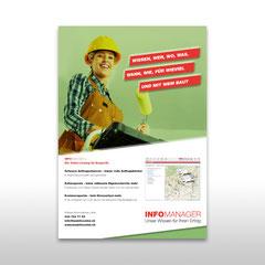 """Kunde: Docu Media Schweiz GmbH / Auftrag: Inserat """"Infomanager, Handwerker"""""""