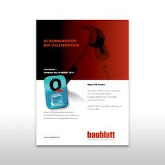Kunde: Docu Media Schweiz GmbH / Auftrag: Inserat für das Baublatt