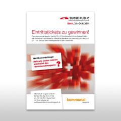 Kunde: Docu Media Schweiz GmbH / Auftrag: Inserat für Messe Suisse Public