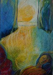 siesta  -  pastel on paper  -  60x90 cm  -  1992