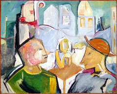 café talk  -  oil on canvas  -  100x70 cm  -  1992