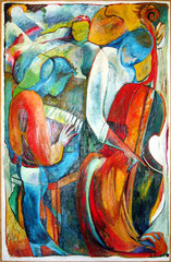 trio  -  oil on canvas  -  110x190 cm  -  1994