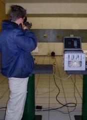 Die Laseranlage im Einsatz