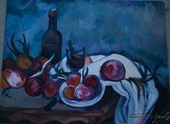 après Cézanne, Nature morte aux oignons