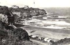 Camping à Anglet au bord de la plage dans les années 50 (carte postale Elcé)