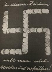 John Heartfield, Avec ce signe nous voulons vous trahir, date inconnue.