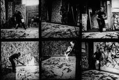 En 1950, Hans Namuth réalise les premières photographies d'un artiste au travail.
