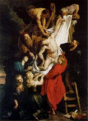 Rubens - La descente de la Croix, Huile sur toile, 420x320 cm, 1612-1614, Cathédrale Notre-Dame, Anvers (Belgique).