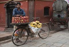 Obstverkäufer, Streetlife, Kathmandu, Nepal