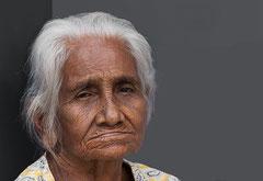 Alte Frau, Sri Lanka, Negombo, Sri Lanka