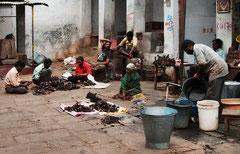 Indien, India, Mysore, Fleischmarkt