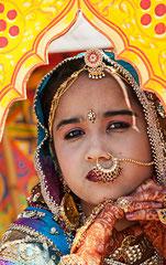Junges Mädchen in Jaisalmer, Indien, India, Rajasthan