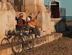 Kuba, Cuba, Trinidad, Musikanten, Streetlife
