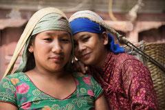Freundinnen in Kathmandu