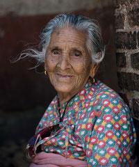 Alte Dame, Nepal, Kathmandu