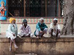 Badami, Indien, India, Männergespräch