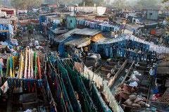 Dhobi Ghat, Mumbai, India, Wäscherei