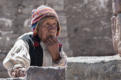 Alter Mann am Titicacasee ( Lago Titicaca )