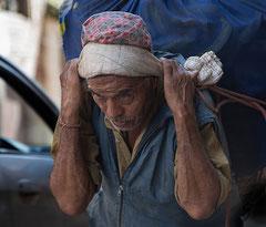 Lastenträger, Schwerarbeit, Kathmandu