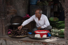 Verkäufer am Durbar Square, Kathmandu