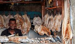 Aluthgama, getrockneter Fisch.