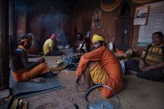 Männer im Pashupatinath Tempe,l Kathmandu