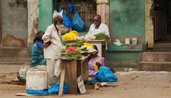 Indien, India, Madurai, Blumenverkauf