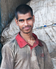 Indien, India, Dharavi-Slum in Mumbai
