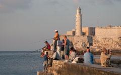 Angler in Cuba, Havanna