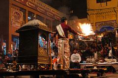Indien, India, Varanasi, Ganges,  Aarti-Zeremomie, Benares