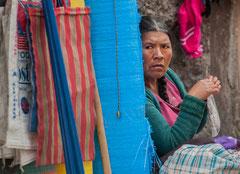 Marktfrau in Cajamarca, Nordwest-Peru
