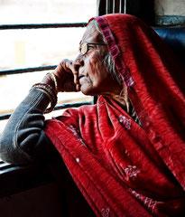 Im Zug nach Bundi, Indien, India, Rajasthan