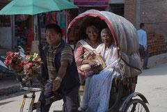 Rikscha, Altstadt, Kathmandu