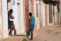 Kuba, Cuba, Trinidad, Gespräch, Streetlife