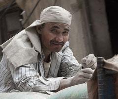 Arbeiter, Zement, Kathmandu