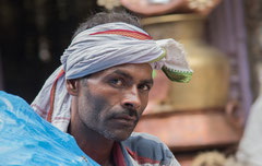 Augenbicke, Arbeiter, Nepal, Kathmandu