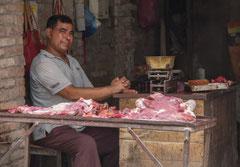 Butcher's shop, Kathmandu, Nepal