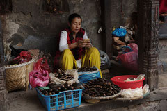 Marktfrau, Altstadt, Kathmandu