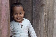 Freundliches Kind, Kathmandu, Nepal