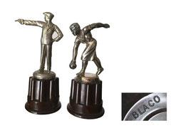 Pokale, Sportfiguren auf Bakelitsockel, BLACO (?) - Höhe Sockel 5 cm