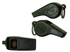 Trillerpfeife AMCE mit Korkball, Patent No. 620720, made in England - Länge 6 cm, Tiefe 2 cm